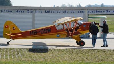 Einmotorige Propellermaschine auf dem Erlebnisflugplatz Sitterdorf. (Bilder: Georg Stelzner)