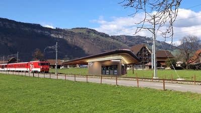 So könnte die neue Haltestelle in Oberdorf aussehen. (Visualisierung: PD)