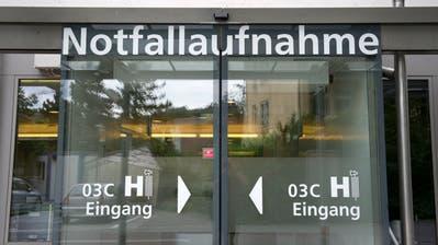 25 bis 30 Vorfälle mit renitenten Patienten verzeichnet das St.Galler Kantonsspital pro Jahr. (Archivbild:Urs Bucher)