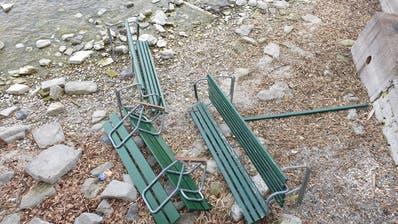 Die Bänkli gingen teilweise kaputt. (Bilder:Gülsen KarasuÜzümcüoglu)