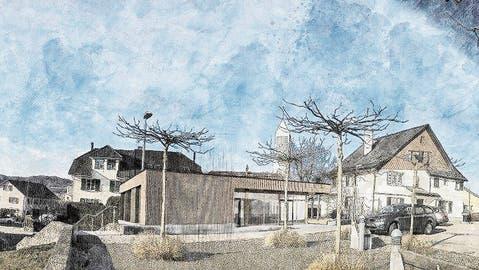 Ein Pavillon ist die Lösung für das katholische Pfarrhaus in Aadorf