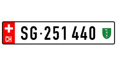 Geht es nach dem Initiativkomitee, könnte das Nummernschild dereinst so aussehen. (Bild: PD)