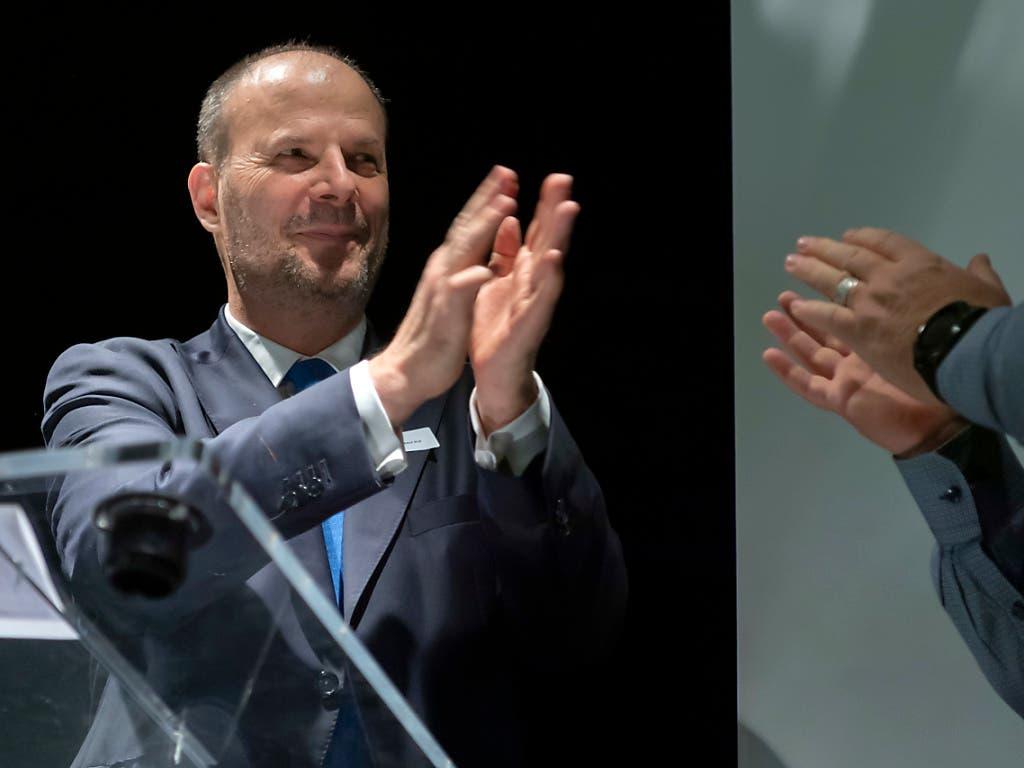 Er soll die Genfer FDP aus ihrer tiefen Krise führen: Bertrand Reich ist neuer Kantonalpräsident. (Bild: KEYSTONE/MARTIAL TREZZINI)