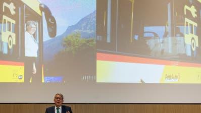 Urs Schwaller, Praesident des Verwaltungsrats, spricht an der Bilanzmedienkonferenz der Schweizerischen Post, am Donnerstag, 7. Maerz 2019 am Hauptsitz der Post in Bern. (KEYSTONE/Alessandro della Valle)