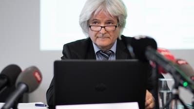 Christoph Ill, Erster St.Galler Staatsanwalt, äusserte sich vor den Medien zu angeblichen neuen Fakten im Mordfall Ylenia. (Bild: KEYSTONE/Gian Ehrenzeller)