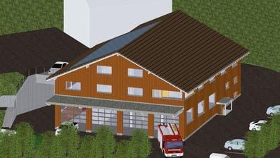 So soll das Mehrzweckgebäude in Meierskappel aussehen. (Visualisierung: PD)