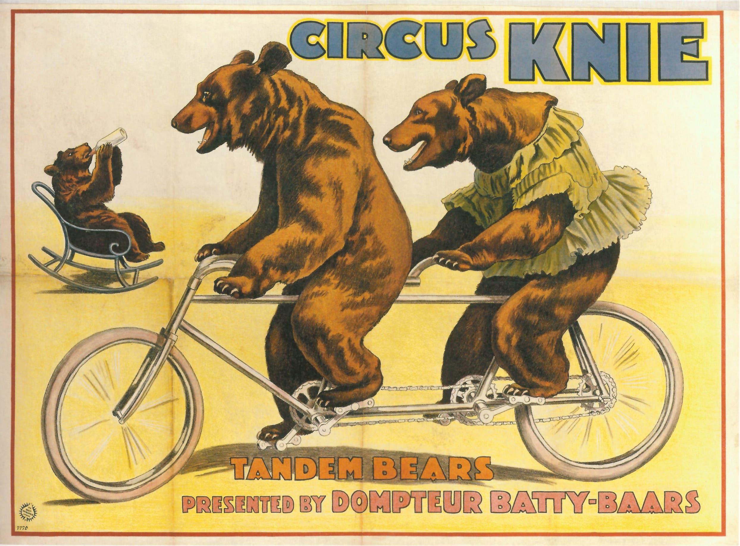 1925: Werbeplakat des Circus Knie.