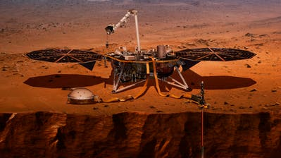 Eine Illustration des Mars-RobotersInSight.(Illustration: NASA)