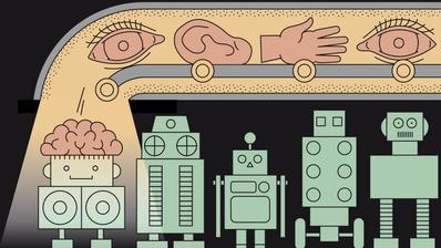 Digitalisierung der Arbeitswelt: Zu was befähigen wir die Maschinen und wie profitieren wir davon? (Illustration: Lea Siegwart)