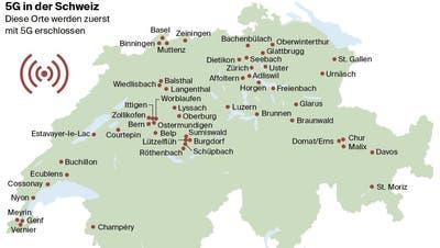 Wo man bald schneller surft: In diesen 52 Städten schaltet die Swisscom bald das 5G-Netz auf