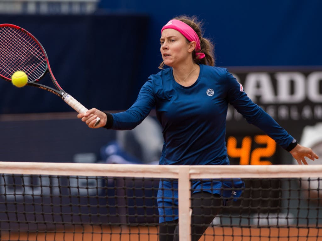 Mit Stefanie Voegele scheiterte die letzte verbliebene Schweizerin am WTA-Turnier in Lugano in den Viertelfinals (Bild: KEYSTONE/TI-PRESS/SAMUEL GOLAY)