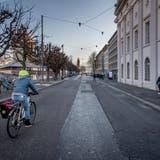 Die Teilstrecke zwischenTheaterplatz und Seidenhofstrasse soll bis Ende Juni autofrei werden. (Bild: Pius Amrein, Luzern 4. Januar)