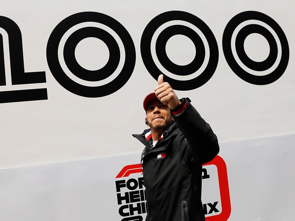 Das 1000. Formel-1-Rennen war ein Fall für den Weltmeister (Bild: KEYSTONE/EPA/WU HONG)