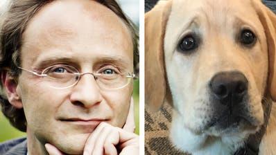 Thomas Beschorner, Direktor des Instituts für Wirtschaftsethik an der HSG, kümmerte sich um Blindenhund Kalle – ein Engagement mit Folgen. (Bilder: pd)