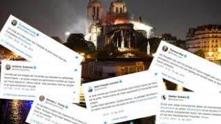 «Ein Stich ins Herz»: Die Reaktionen nach dem Brand von Notre Dame