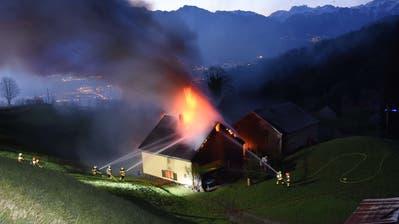 Das Haus brannte vollständig aus. (Bild: Kapo)