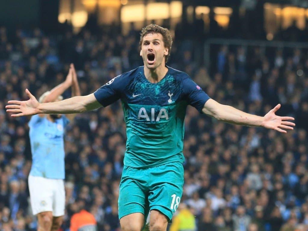 Das 3:4 als «Siegtor»: Dem eingewechselten Fernando Llorente gelingt in der 73. Minute der entscheidende Treffer für Tottenham (Bild: KEYSTONE/AP/JON SUPER)
