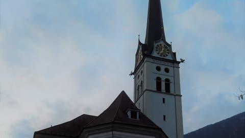 Kirche von Alpnach im Abendlicht. (Bild: Markus von Rotz, 23. März 2018)