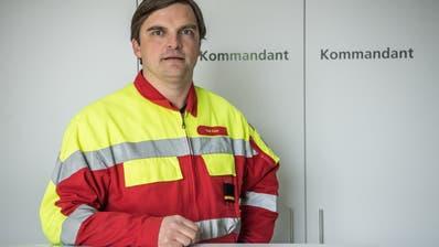René Kiser, Feuerwehrkommandant Sarnen (Bild:Nadia Schärli)