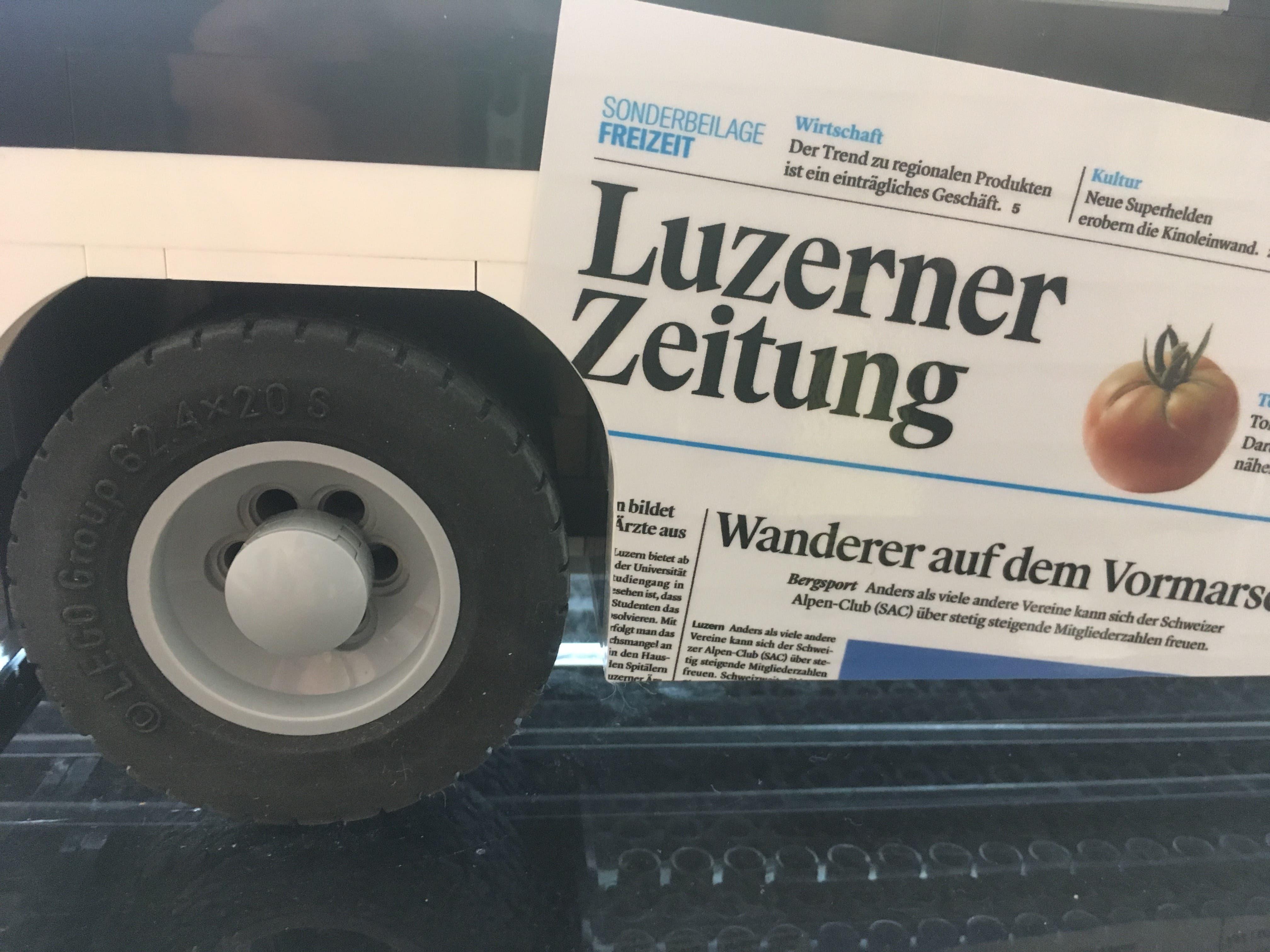 Bei der Gestaltung dieses Busses hatte Sven seine Finger im Spiel. (Bild: Roger Rüegger, Küssnacht, 7. März 2019)