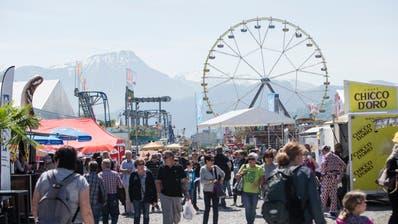 Erfreut sich nach wie vor grosser Beliebtheit: Die Zentralschweizer Frühlingsmesse Luga. (Bild: Manuela Jans-Koch, Luzern, 27. April 2018)