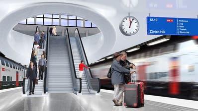 Unter anderem die für den Durchgangsbahnhof gedachte Vorfinanzierung soll aufgelöst werden. (Visualisierung: Kanton Luzern)