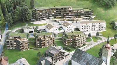 Der öffentliche Bereich der Überbauung befindet sich im Erdgeschoss des hintersten Gebäudes. (Visualisierung: PD)