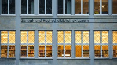 Die Zentral- und Hochschulbibliothek (ZHB) Luzern beim Vögeligärtli. (Bild: Dominik Wunderli)