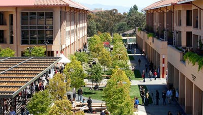 Die Graduate School of Business auf dem Campus der Stanford-Universität in Palo Alto, Kalifornien. (Bild: Tony Avelar/Bloomberg, 29. April 2011)