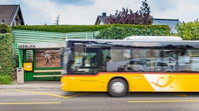 Die Berger können heute nur an der Haltestelle Seeblick in den Bus steigen. (Bild: Urs Bucher (29. April 2019))