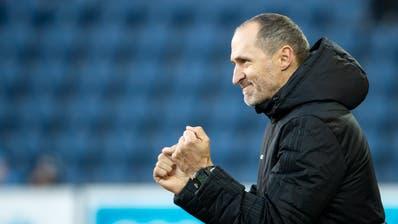 Jubelt er nächste Saison für YB? FCL-Trainer Thomas Häberli. (Bild: Alexandra Wey / Keystone, Luzern, 10. März 2019)