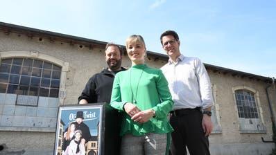 Florian Rexer, Diana Gutjahr und Andreas Müller stellen das Theaterprojekt vor. (Bild: Rita Kohn)