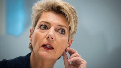 Bundesrätin Karin Keller-Sutter während einem Interview, am Freitag, 29. März 2019, in St. Gallen. ©Benjamin Manser / TAGBLATT