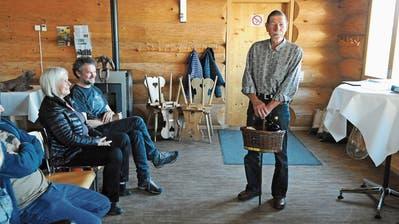 Kurt Schär, ein Künstler aus Ebersol, wurde vor einem Jahr mit dem Wanderpreis ausgezeichnet. (Bild: Michael Hug, April 2018)