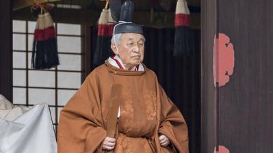 Der abtretende Japanische Kaiser Akihito während der Zeremonie zur Ankündigung seiner Abdankung im Kaiserpalast. (Bild: PD/Getty, Tokyo, 30. April 2019)