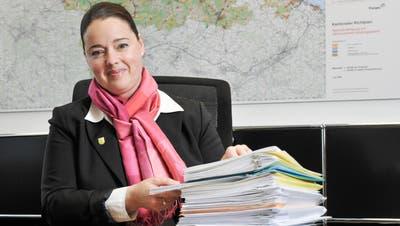 Entscheidende Wochen in Bern für das BTS-Projekt: Regierungsrätin Carmen Haag. (Bild: Donato Caspari)