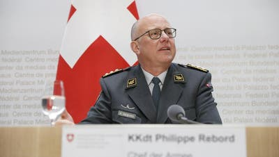 Der scheidende Armeechef Philippe Rebord. (Bild: Daniel Rihs)