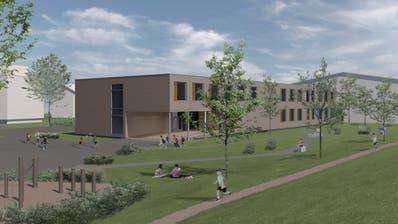 So soll der Schulpavillon Langacker beim Lindenhofschulhaus aussehen. (Visualisierung: PD)