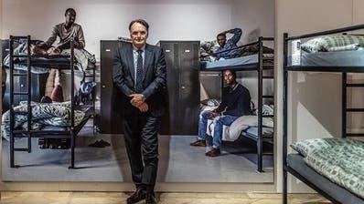 Mario Gattiker, Chef des Staatssekretariats für Migration, im Historischen und Völkerkundemuseum in St.Gallen. (Bild: Michel Canonica, St.Gallen, 5. April 2019)