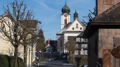 Ja, Ebikon ist ein Dorf – hier die Dorfstrasse –, aber eines mit fast 14'000 Einwohnern. Zu gross für eine Gemeindeversammlung. (Bild: Boris Bürgisser, 18. Januar 2019)