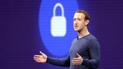 Facebook-CEO Mark Zuckerberg an einer Entwicklerkonferenz im kalifornischen San Jose. Bild: Marcio Jose Sanchez/AP (1. Mai 2018)