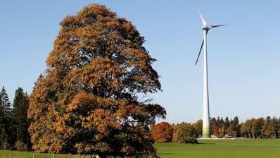 Windkraftwerke wie hier im Windpark Le Peuchapatte im Jura könnten auch im Toggenburg gebaut werden. (Bild: Peter Klaunzer, Keystone)