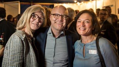 Gut-Werbung-Geschäftsführerin Gabi Engelhart mit Inhaber und Gewa-Organisator Thomas Gut und Jacqueline Somm vom Schrofenhof. (Bilder: Reto Martin)