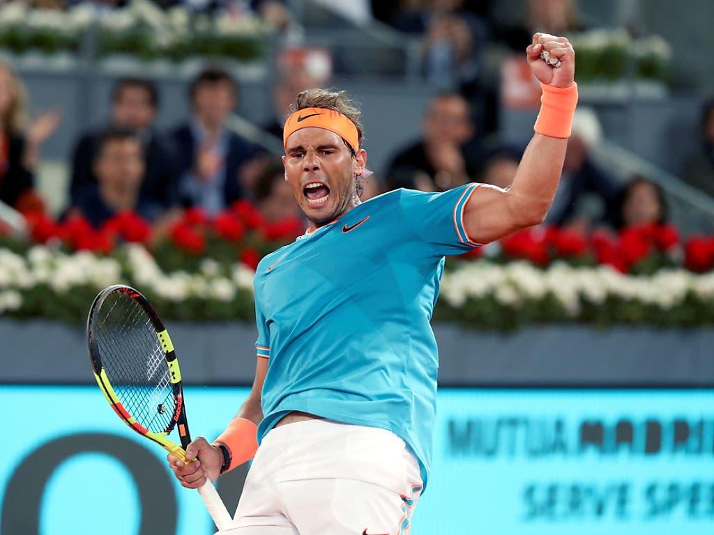 Und der fünffache Madrid-Sieger und Wawrinka-Bezwinger Rafael Nadal bekommt es mit ... (Bild: KEYSTONE/EPA EFE/KIKO HUESCA)