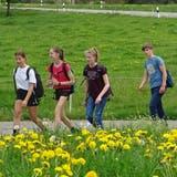 Die Schülerinnen und Schüler auf ihrer Trainingswanderung an den Untersee an einem freien Mittwochnachmittag. (Bild: PD/Urs Keller)