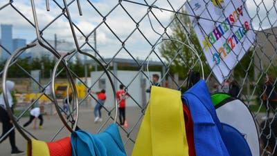 Mittwochnachmittag auf dem Spielplatz Haselweg. (Bild: Mathias Frei)
