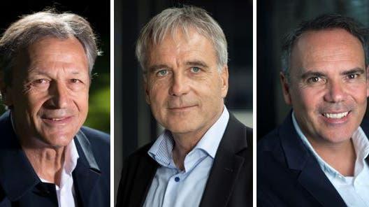 Dominique Blanc,Kurt Zuppinger undJean-François Collet. (Bilder: Keystone)