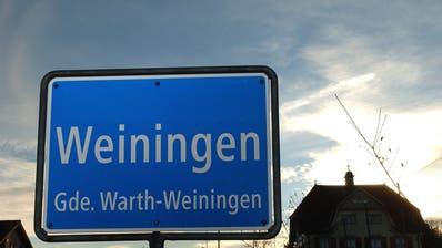 Die Ortseingangstafel von Weiningen, Gemeinde Warth-Weiningen. (Bild: Nana do Carmo)
