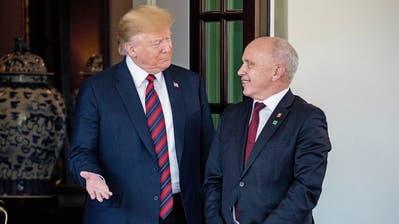 Ueli Maurer trifft Donald Trump: Nach 45 Minuten war es schon vorbei
