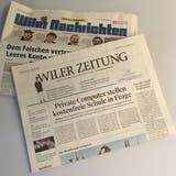 Ab Juni sind die «Wiler Zeitung» und die «Wiler Nachrichten» nicht länger amtliche Publikationsorgane der Stadt Wil. (Bild: Gianni Amstutz)